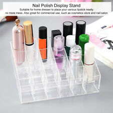 24 Grids Nail Polish Lipstick Holder Jewelry Display Rack Makeup Stand Organizer