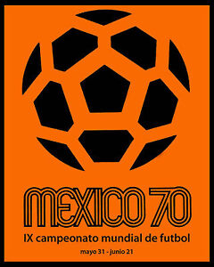 1970 Mexico World Cup Poster - 8x10 Photo