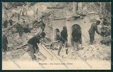 L'Aquila Pescina Terremoto Militari cartolina QQ3987