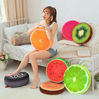 3D Fruit Cotton Home Office Chair Seat Back Cushion Bed Sofa Round Throw Pillow
