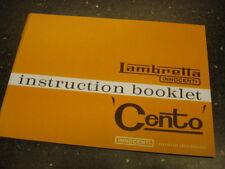 Lambretta Cento Owners Manual - J50 J100 J100 (1GG129)