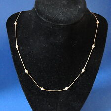 "24"" Monet  Pearl w beads design designer necklace - w patented lobster catch -"
