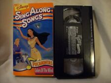 """Disney's SING ALONG Songs POCAHONTAS """"Colors of the wind"""" VHS/Video"""