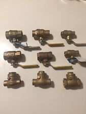 Lot Mix Ball Valves Check Valves 9pc