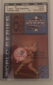 New York Yankees 2003 Game 6 World Series Ticket