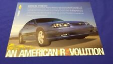 2005 Chevy Impala SS Supercharged Mini Poster Info Card LASER BLUE