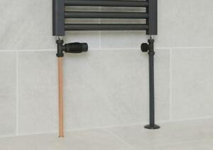 Snappit Towel Rail Radiator Pipe Covers Collars Black White Chrome Anthracite