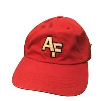 """Vintage Red Abercrombie & Fitch """"AF"""" Adjustable Strap Hat. One Size Cap. Wow!"""