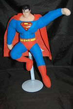 "Superman Man Of Steel DC Comics Vinyl Head Flying Pose Cape Plush 16"" Toy Doll"