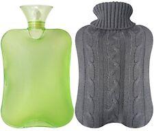 Botella De Goma Térmica Terapia Calor Frío Dolor Muscular Color Verde