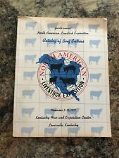 1977 Catalog Of BEEF CATTLE ENTRIES,North American Livestock Expo,Louisville KY