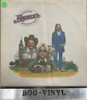 AMERICA History America's Greatest Hits 1975 UK vinyl LP + Inner Lyric Ex Con