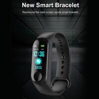 M3s Reloj inteligente Pulsera Presión arterial Ritmo cardíaco Rastreador Fitness