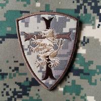 USA Navy Seal 6 Devgru Lion Cross Crusader Militray Tactical Hook Patch Acu Gray