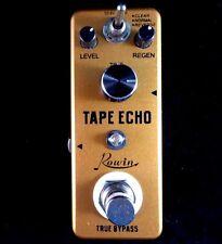 Rowin LEF-3809 Mini 3 en 1 Eco de cinta Efecto de Guitarra Pedal con verdadera by-pass