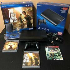 Sony Playsation PS3 Super Slim CECH-4201c -500GB Last of Us Collectors Bundle