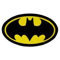 BATMAN SHAPED RUG FLOOR MAT CHILDRENS BEDROOM RUG NEW OFFICIAL