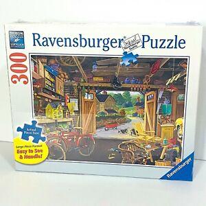 RAVENSBURGER Jigsaw Puzzle 300 Piece - Large Format #135783 Grandpa's Garage
