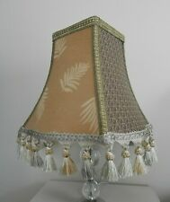 Top Quality Square Gold Lined Tassle Lampshade ~ Free UK Post