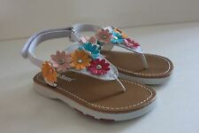 Jelly Beans Kid Toddler Girls Shoe Rocat Sandal White Floral Sandal Shoe Size 7