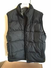 Eddie Bauer Down Vest S Chore Coat Black Grey Jacket Hoodie Nupste Medium