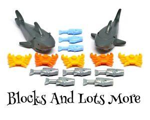 Lego Animals - 14 x Underwater Deep Sea Creatures Fish Crab Shark Beach Pieces