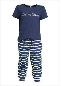 """LOUIS & LOUISA  """" Lust auf Sommer """" Pyjama blau gestreift  Gr. 116 NEU"""