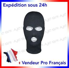 CAGOULE 3 TROUS NOIRE   POLICE_AIRSOFT_PAINTBALL_SWAT_RAID_GIGN_FORCES SPECIALES