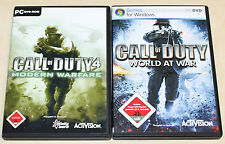 Call of Duty 4 & 5-Modern Warfare World at War-PC jeux collection-FSK 18