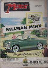 Motor magazine 26 September 1956 featuring Singer Gazelle cutaway drawing