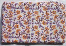 5 Yard Hand Block Indian New Print Multi Floral Cotton Fabric Craft Running