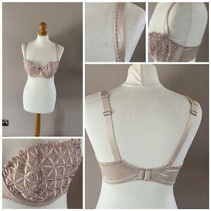 aubade lingerie bra very pretty 36C lace effect beige