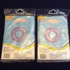 Set Of 2 Splash-N-Swim Inflatable Swim Rings, 30 inch Dia. * PURPLE SWIM RING*