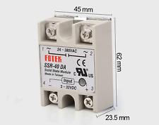 Ssr 40da 40a Solid State Relay Module 3 32v Dc Input 24 380vac New