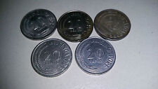 5 Singapore 20 cent Coin