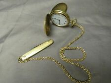 Vintage Nivada 17 Jewel Gold Filled Pocket Watch