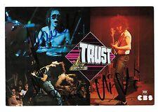 TRUST autographe Bernie/Nono/Vivi/Jeanot Album Trust 1979 Préfabriqués/La Mateur