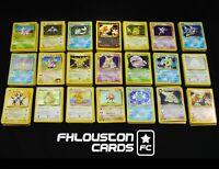 12 Lot Original Vintage Rare Pokemon Cards 1st Edition Shadowless LP-NM