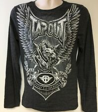 New Men's Small TapouT Shirt Long Sleeve Hated To Heroes Embellished