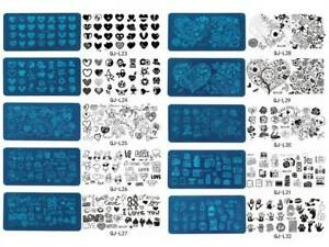 Valentines Day Love Nail Art DIY Stamping Metal Template Stencil Image Plate NEW
