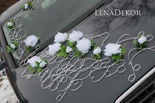 wedding car decoration, ribbon ,BRÖLLOP , limousine decoration, ALA white