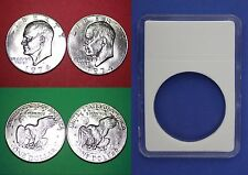 1974-P & D BU Clad Eisenhower Ike Dollars With DIY Slabs Flat Rate Shipping