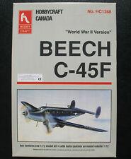 HOBBYCRAFT HC1388 - BEECH C-45F - WWII - 1:72 - Flugzeug Modellbausatz Model Kit