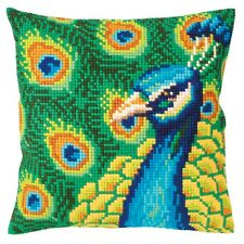Collection dArt ~ Cross Stitch Cushion Front Kit ~ Proud Peacock ~ CD5327