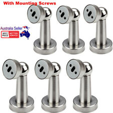 6Pcs Stainless Steel Magnetic Home Office Door Stop Stopper Holder Catch