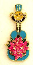 HARD ROCK CAFE MAUI 3D FLOWER BLUE UKULELE PIN LE--400