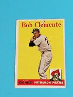 Roberto Clemente Pittsburgh Pirates 1958 Topps #52 EX Centered No Creases