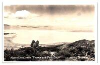 RPPC Honey Lake from Thompson Peak, CA Real Photo Postcard *4W