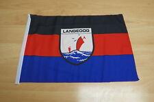 Fahnen Flagge Langeoog Stockfahne mit Hohlsaumm - 30 x 45 cm