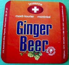 Lausanne Ginger Beer - Microbrasserie du Lièvre -  QC Canada Coaster / Beer Mat